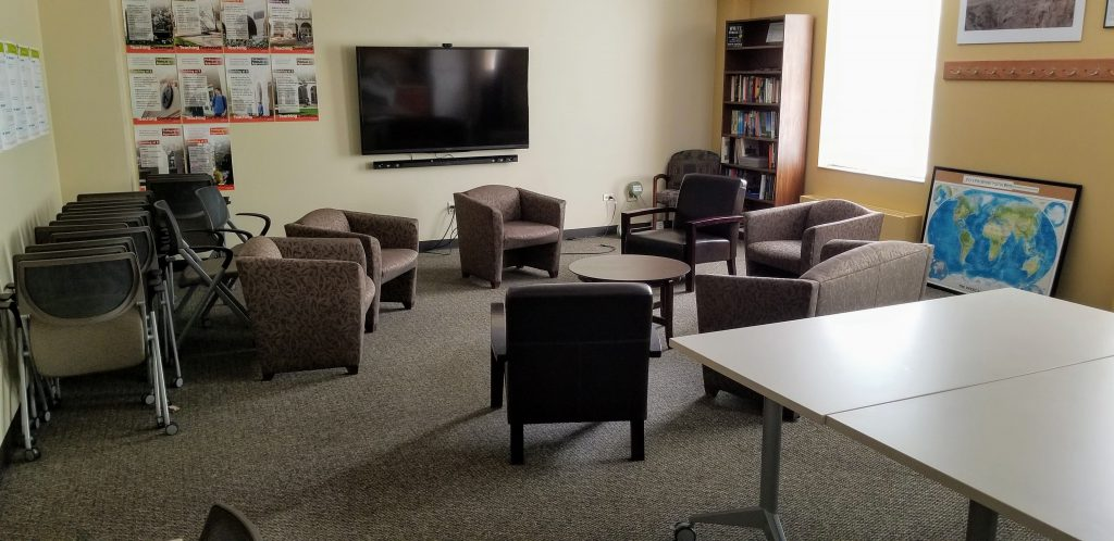 Teaching Commons room with view of group seating
